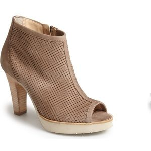 Paul Green Tan Perforated Open Toe Bootie Beacon